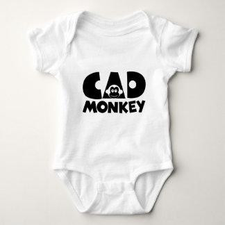 Cad Monkey Baby Bodysuit