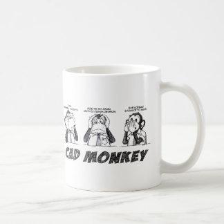 CAD Monkey Hear No Evil Speak No Evil See No Evil Coffee Mug
