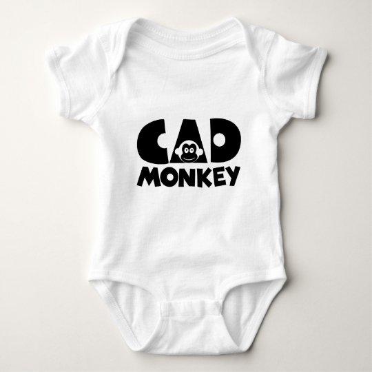Cad Monkey Light Baby Bodysuit