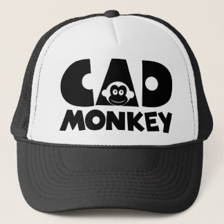 Cad Monkey Light Trucker Hat