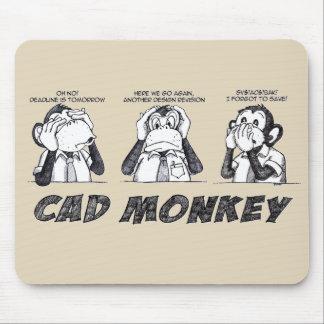 Cad Monkey Speak No Evil Hear No Evil See No Evil Mouse Mat