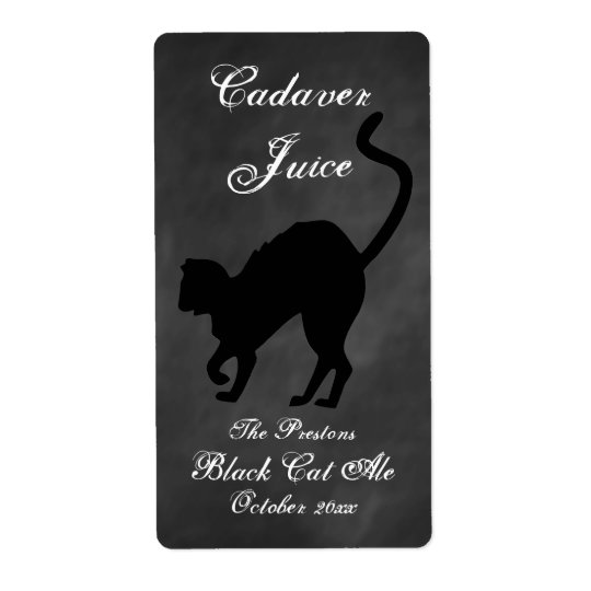 Cadaver Juice Beer Label Shipping Label