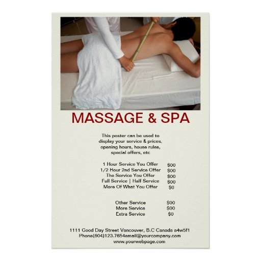 Cadaverine Spa Massage Beauty Salon poster