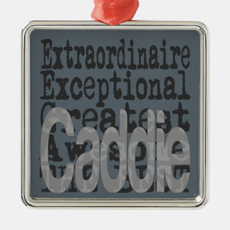 Caddie Extraordinaire Silver-Colored Square Decoration
