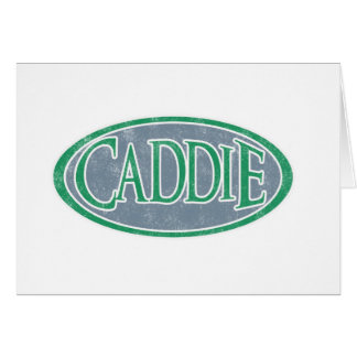 Caddie Greeting Card