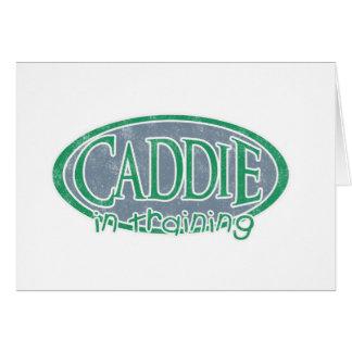 Caddie in Training Greeting Card