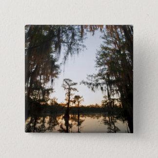 Caddo Lake at sunrise 15 Cm Square Badge