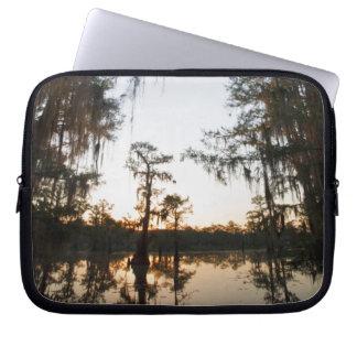 Caddo Lake at sunrise Laptop Sleeve