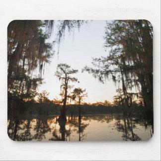 Caddo Lake at sunrise Mouse Mat
