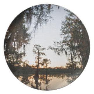Caddo Lake at sunrise Plate