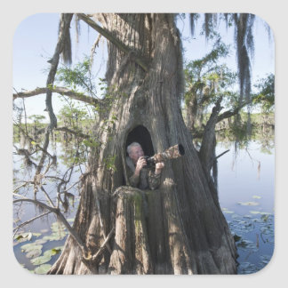 Caddo Lake, hunting blind Square Sticker
