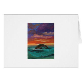 """Caddy at Sunset"" by Thomas Finley Greeting Card"