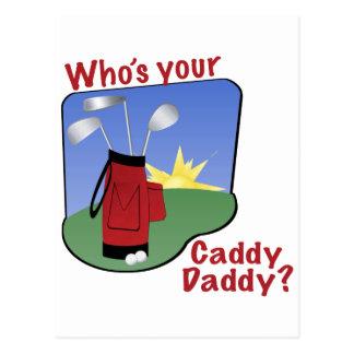 Caddy Daddy Golfer Gift Postcard
