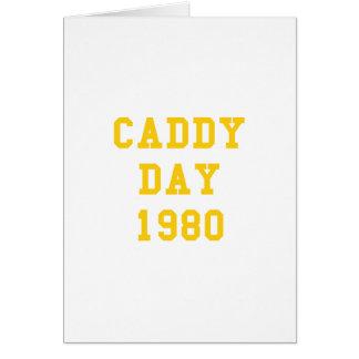 Caddy Day 1980 Greeting Card