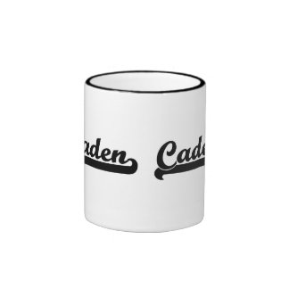 Caden Classic Retro Name Design Ringer Mug
