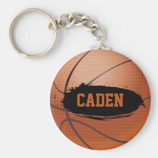 Caden Grunge Basketball Keychain / Keyring