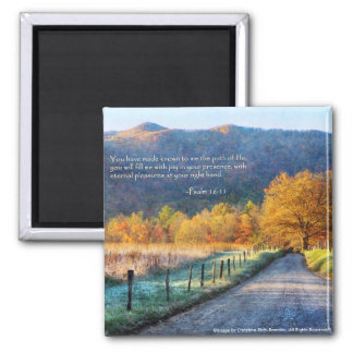 Cades Cove - Path of Life Square Magnet