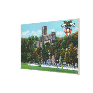 Cadets Marching to Parade Grounds Scene Canvas Print