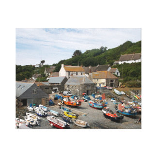 Cadgwith Harbour Cornwall Photograph Canvas Print