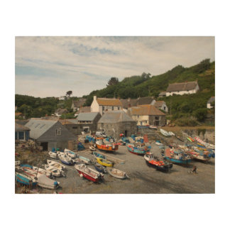 Cadgwith Harbour Cornwall Photograph Wood Wall Decor