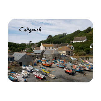 Cadgwith Village Cornwall Fishing Boats Rectangular Photo Magnet