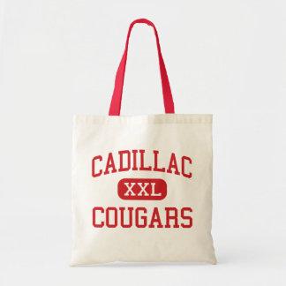 Cadillac - Cougars - Middle - Detroit Michigan Budget Tote Bag