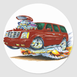 Cadillac Escalade Maroon Truck Classic Round Sticker