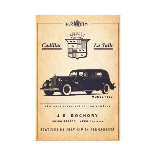 Cadillac La Salle - vintage poster Canvas Print