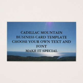 CADILLAC MOUNTAIN BUSINESS CARD TEMPLATE
