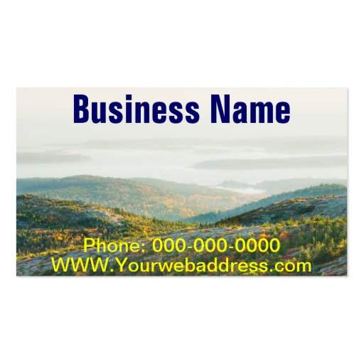 Cadillac Mountain in Fall, Acadia National Park Business Card Templates