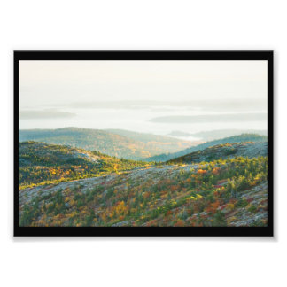 Cadillac Mountain in Fall, Acadia National Park Photographic Print