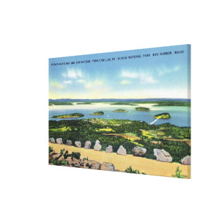 Cadillac Mt Summit View of Bar Harbor 2 Canvas Print