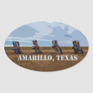 Cadillac Ranch - Amarillo, Texas Sticker
