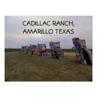 Cadillac Ranch Graffite Poster