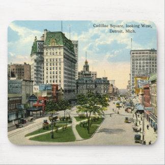 Cadillac Square, Detroit Michigan, 1915 Vintage Mouse Mat