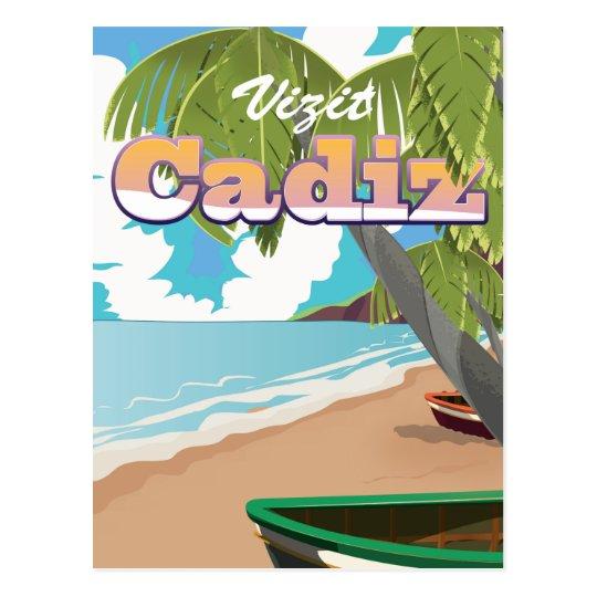 Cadiz Spain travel poster. Postcard