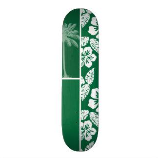 Cadmium Green Tropical Hibiscus; Palm Skate Deck
