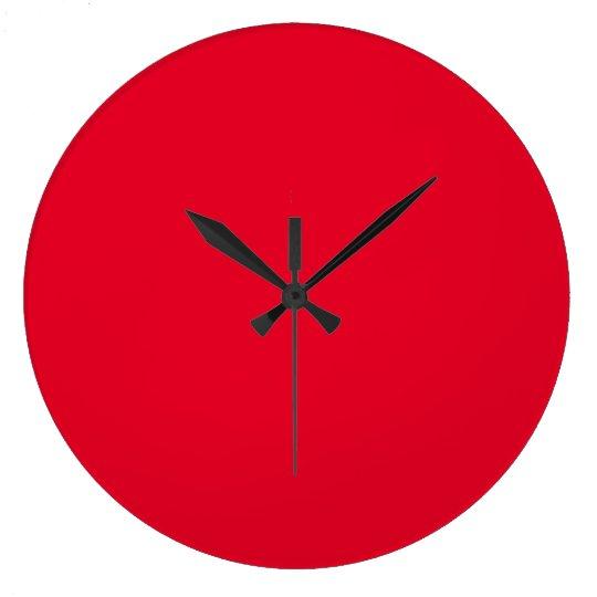 Cadmium Red Fashionable Colourful Wall Clock