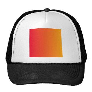 Cadmium Red to Dark Tangerine Vertical Gradient Cap