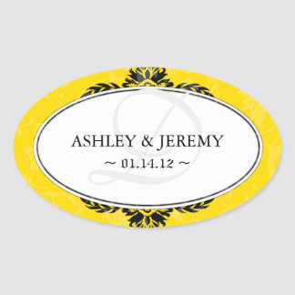 Cadmium Wedding Favor Stickers