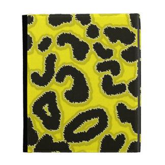 Cadmium Yellow Leopard Animal Print iPad Folio Cases
