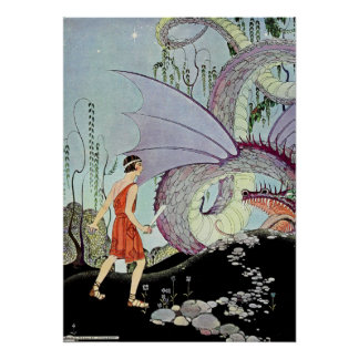 Cadmus and the Dragon by Virginia Sterrett Poster