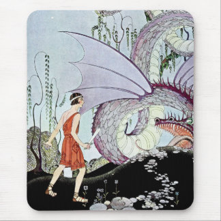 Cadmus and the Dragon from Tanglewood Tales Mouse Pad