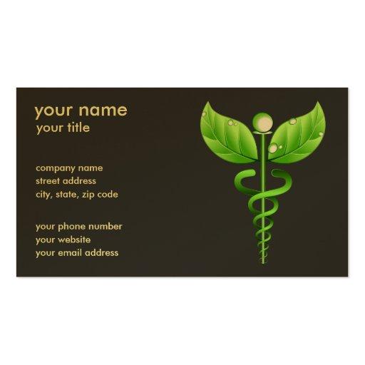 Caduceus Alternative Medicine Business Cards Business Card Template