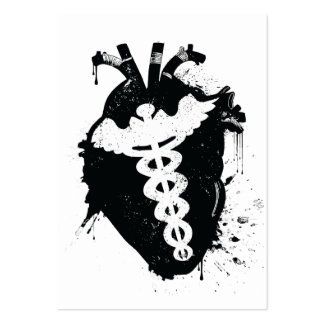 caduceus anatomical heart pack of chubby business cards