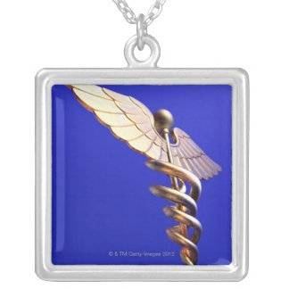 Caduceus, computer artwork. The caduceus is an Silver Plated Necklace