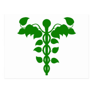Caduceus DNA or holistic medicine concept Post Card