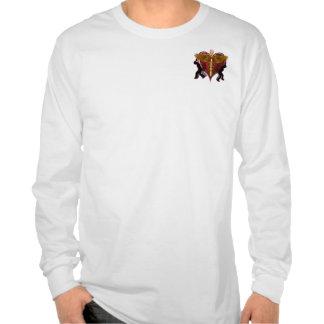 Caduceus Heart V-1 pocket only Tee Shirts
