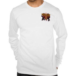 Caduceus Heart V-1 pocket only T Shirts