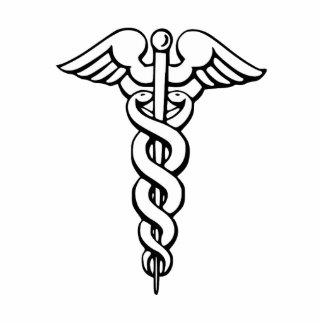 Caduceus Medical Symbol Standing Photo Sculpture